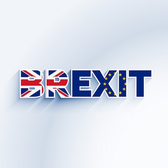 Texto de brexit con  la bandera del reino unido y de la ue