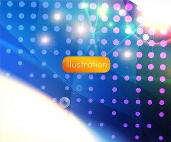 Texto futurista lugar abstracto del brillo