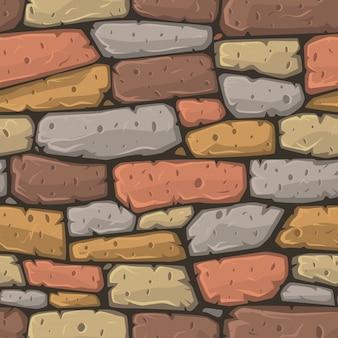 Textura colorida de piedras estilo cartoon