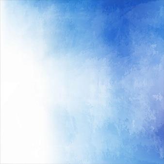 Textura con pintura de acuarela azul