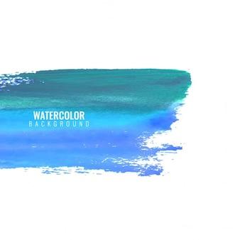 Textura de acuarela artística, mancha de pintura azul