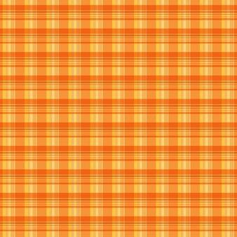 Textura de cuadrados escoceses naranjas