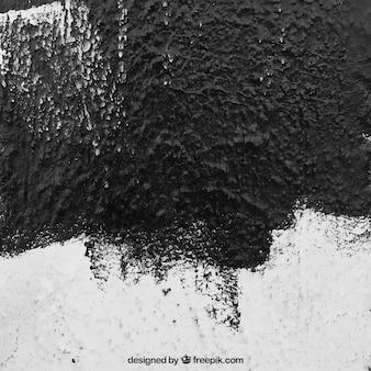 Textura de pared rugosa con pintura negra