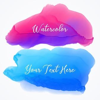 Texturas azul y morada de acuarela