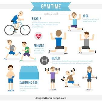 Tiempo de gimnasio infografía
