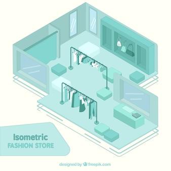 Tienda de moda isométrica