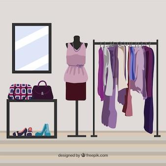 Tienda de ropa violeta