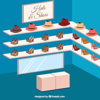 Tienda de sombreros y zapatos