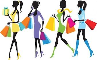 tiendas de moda las niñas ilustración