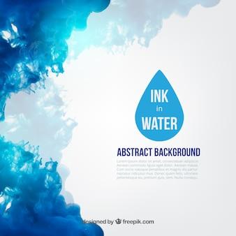 Tinta azul en agua