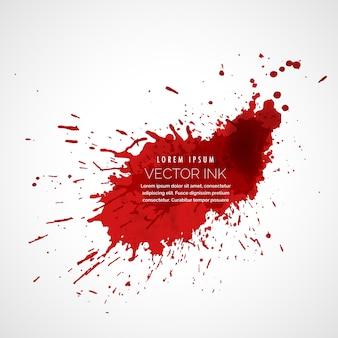 Tinta roja salpicadura vector