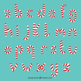 Tipografía de bastón de caramelo
