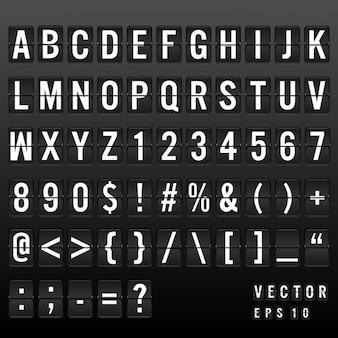 Tipografía tablero de aeropuerto