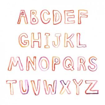 Tipografía pintada a mano en acuarela