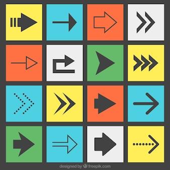 Tipos de flechas planas