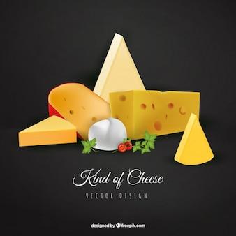 Tipos de queso realista