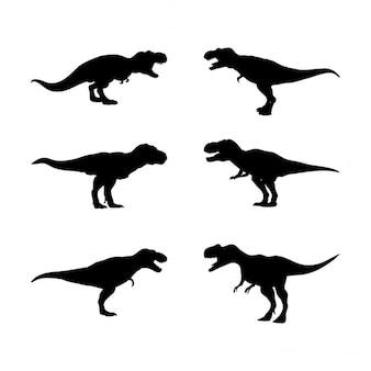 Tiranosaurio rex, siluetas