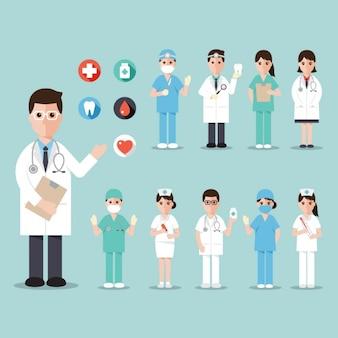 Trabajadores de un hospital