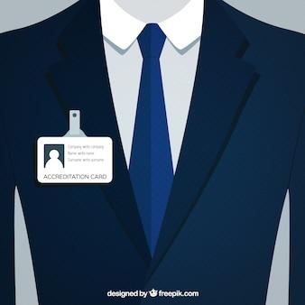 Traje de hombre de negocios