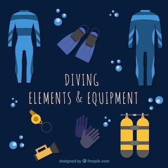 Traje de neopreno y equipamiento de submarinismo