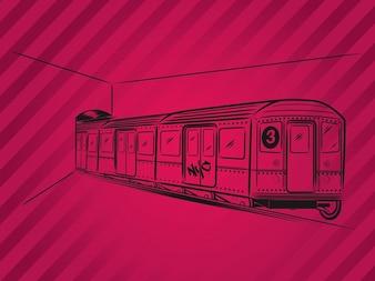 Transporte Metro vector tren metropolitano