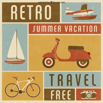 Transporte vacaciones de verano Retro