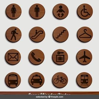 Transportes señalización madera