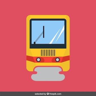 Tren en diseño plano