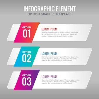 Tres banners con colores para infografías