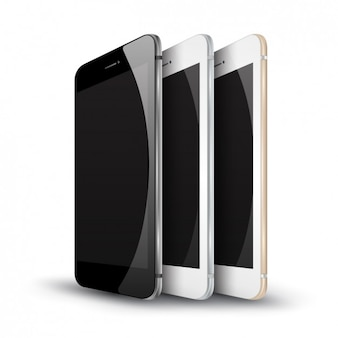 Tres réplicas de Smartphone