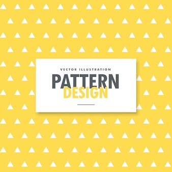 Triangles pattern on a yellow background