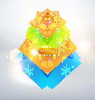Triángulo modelo gráfico navidad futurista