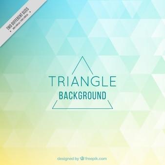 Triángulos de color de fondo