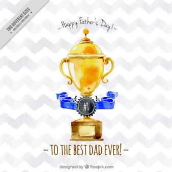 Trofeo de acuarela del día del padre