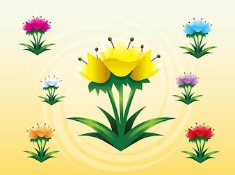 Tulipanes primavera colorido vector