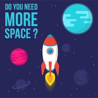 Un cohete en el espacio