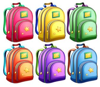 Un conjunto de mochilas