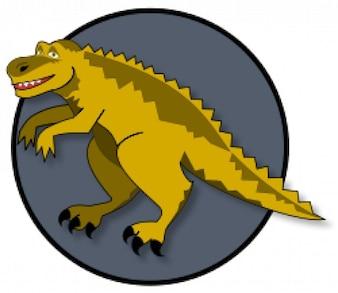 un dinosaurio de dibujos animados