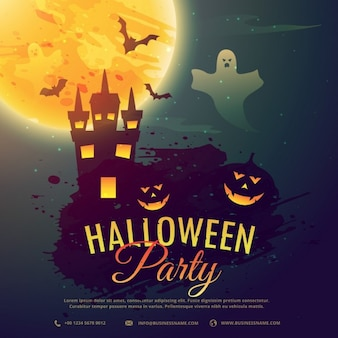 Un fantasmagórico fondo para la fiesta de halloween