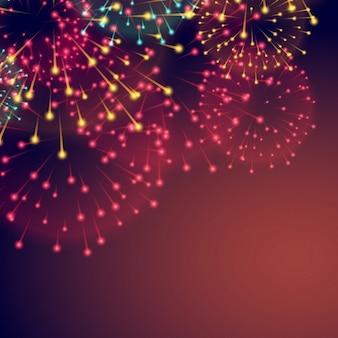 Un fondo con fuegos artificiales para diwali