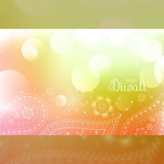 Un luminoso fondo para diwali