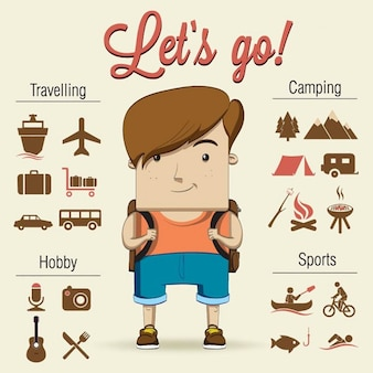 Un niño va de camping con fantásticos accesorios