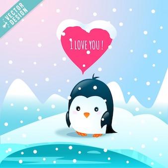 Un pingüino enamorado