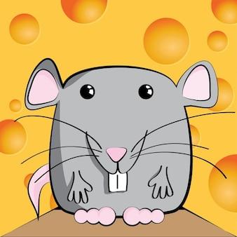 Un ratón sonriente