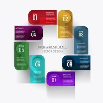 Una infografía con ocho opciones