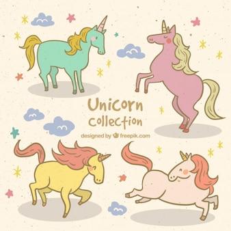 Unicornios fantásticos en colores