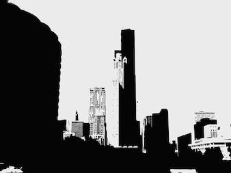 Urban city edificios ilustración vectorial