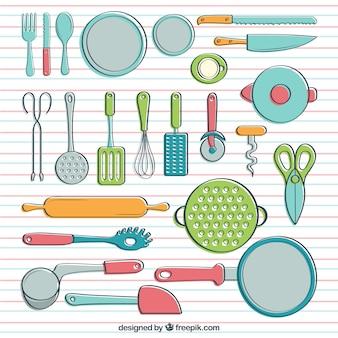 Utensilios de cocina con estilo hecho a mano