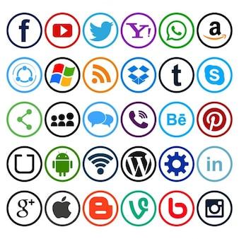 útiles iconos para redes sociales