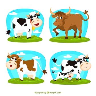 Vacas de dibujos animados